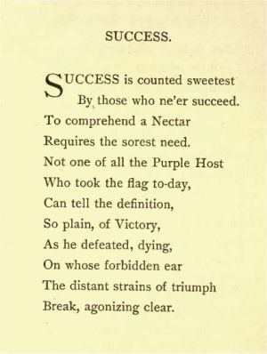 Success is counted Sweetest -Emily Dickinson - ThingLink
